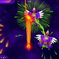 Вторжение кур полный омлет, игра космическая стрелялка
