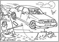Раскраска - автомобили