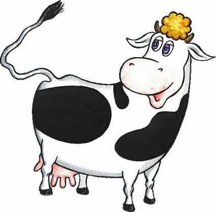корова и молочница картинки