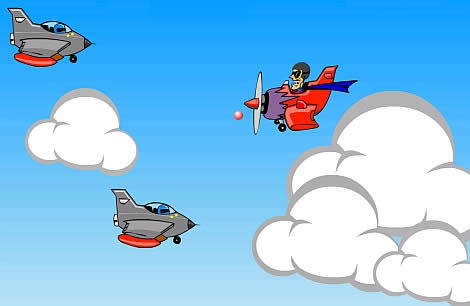 Флеш игра про бесстрашного воздушного пилота «Мститель»