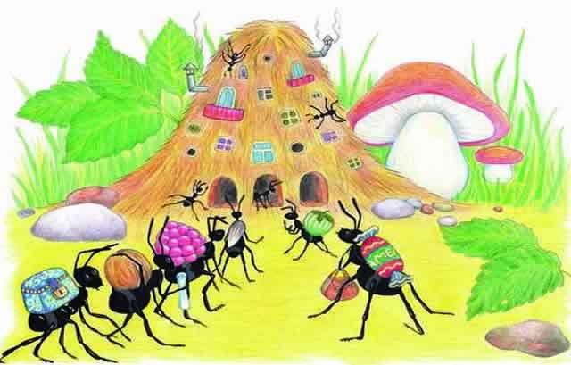 Приключения муравьишки, Бианки, читать с картинками