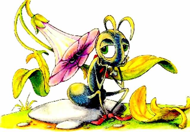 Приключения муравьишки, Бианки, читать с картинками.