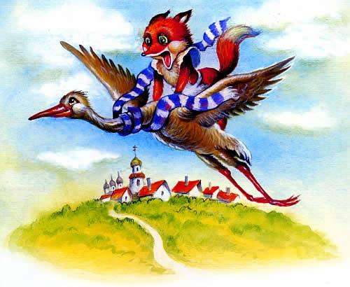 Проделки кумушки лисы сказка с картинками, как лиса училась летать