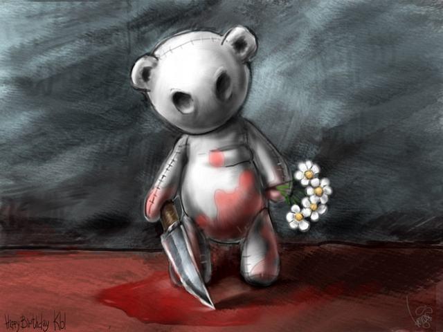 Про железного медведя и Машу, медведь людоед