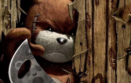 Сказка про железного медведя и Машу, медведь с секирой