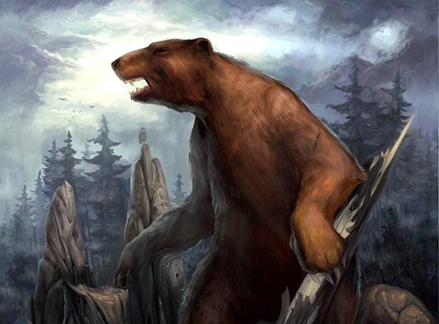 Про железного медведя и Машу, медведь воет в лесу