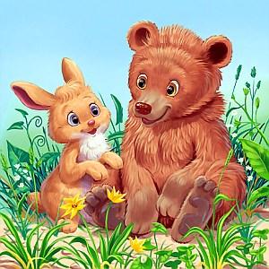 Медведь с зайкой