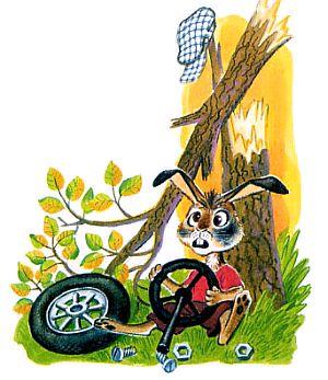 заяц и машина