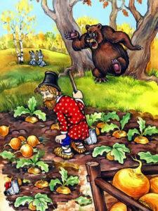 сказка для малышей Вершки и корешки