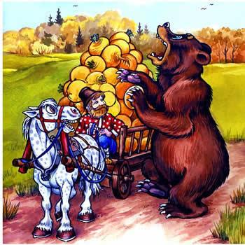 медведь и репа - сказка