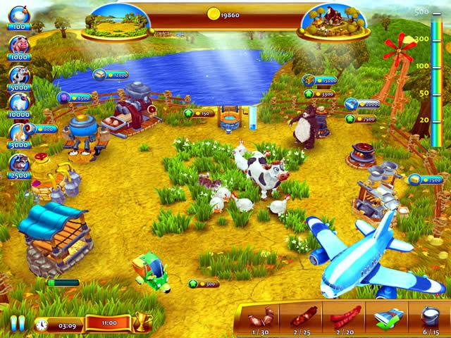 Игра Веселая ферма или безумная ферма 12 в 1