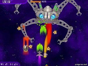 Игра вторжение кур космический монстр