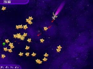 Игра вторжение кур полет ракеты