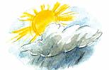 солнце в облаках