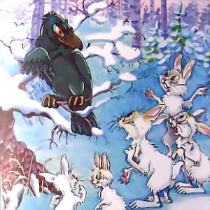 Ворона и зайцы