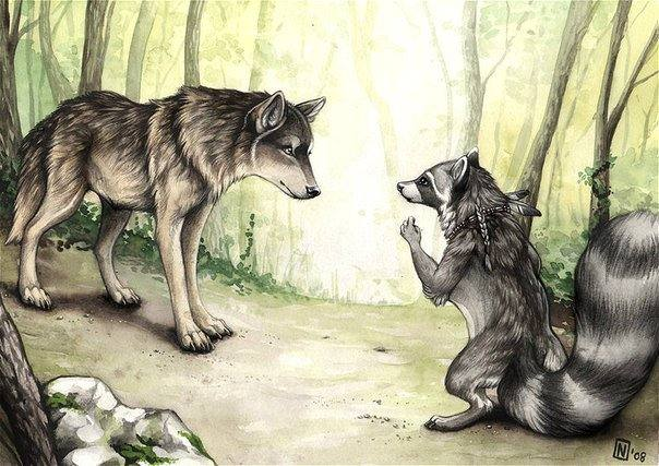 волк и барсук сказка