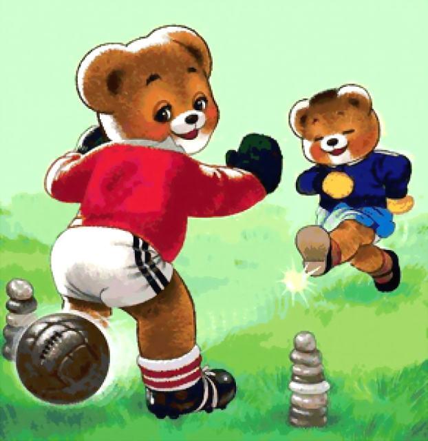 заходер мишка топтыжка играет в футбол